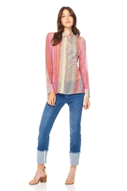 Ecru Button Front Shirt - Front cropped