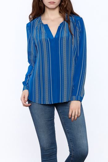 Shoptiques Product: Santorini Blue Blouse - main