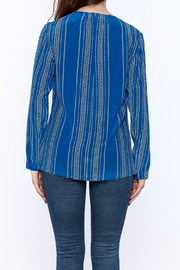 Shoptiques Product: Santorini Blue Blouse - Back cropped