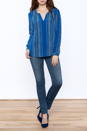 Shoptiques Product: Santorini Blue Blouse - Front full body