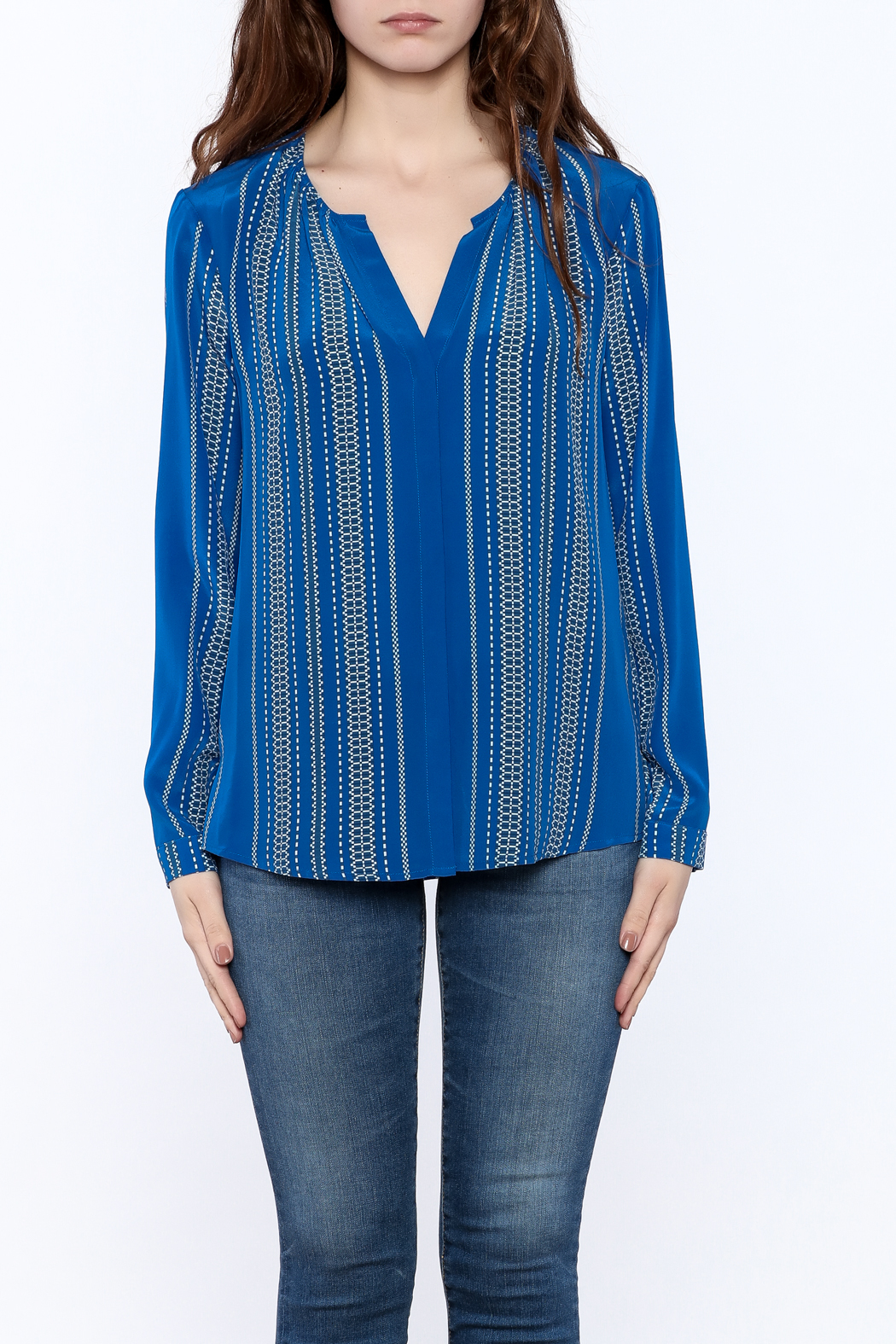 Santorini Blue Blouse