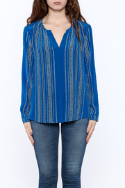 Shoptiques Product: Santorini Blue Blouse - Side cropped