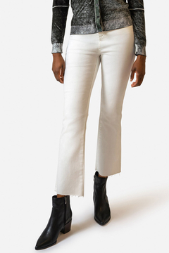 Ecru ECRU CROPPED HIGH RISE JEAN - Product List Image