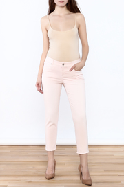 Ecru Cropped Pink Skinny - Front full body