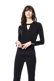 Ecru Cupro Cheoker Top - Front cropped