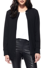 Ecru Elongated Bomber Jacket - Product Mini Image