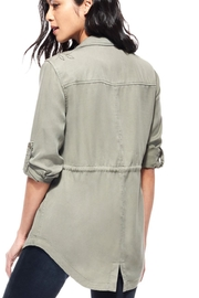 Ecru Embroidered Anorak Jacket - Side cropped