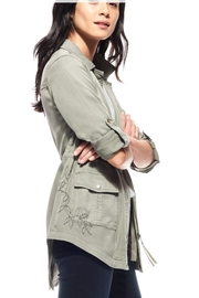 Ecru Embroidered Anorak Jacket - Front full body