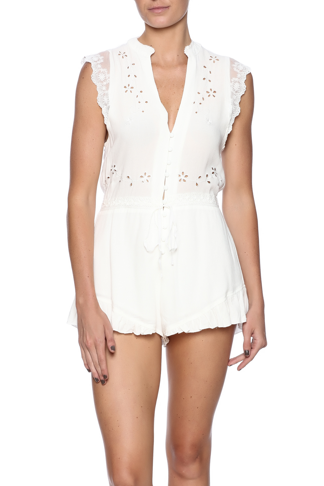 ef67ef1dbc9 ecru lab Eyelet Lace Romper from New York by Dor L Dor — Shoptiques
