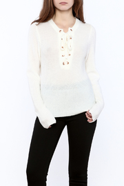 ecru lab Lace Up Sweater - Product Mini Image