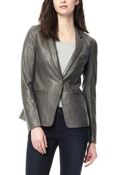 Ecru Leather Blazer - Product List Image