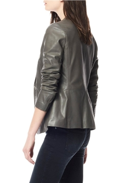 Ecru Leather Blazer - Alternate List Image