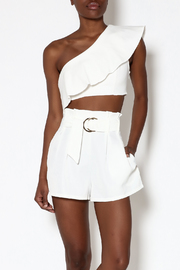 Ecru White One-Shoulder Top - Product Mini Image