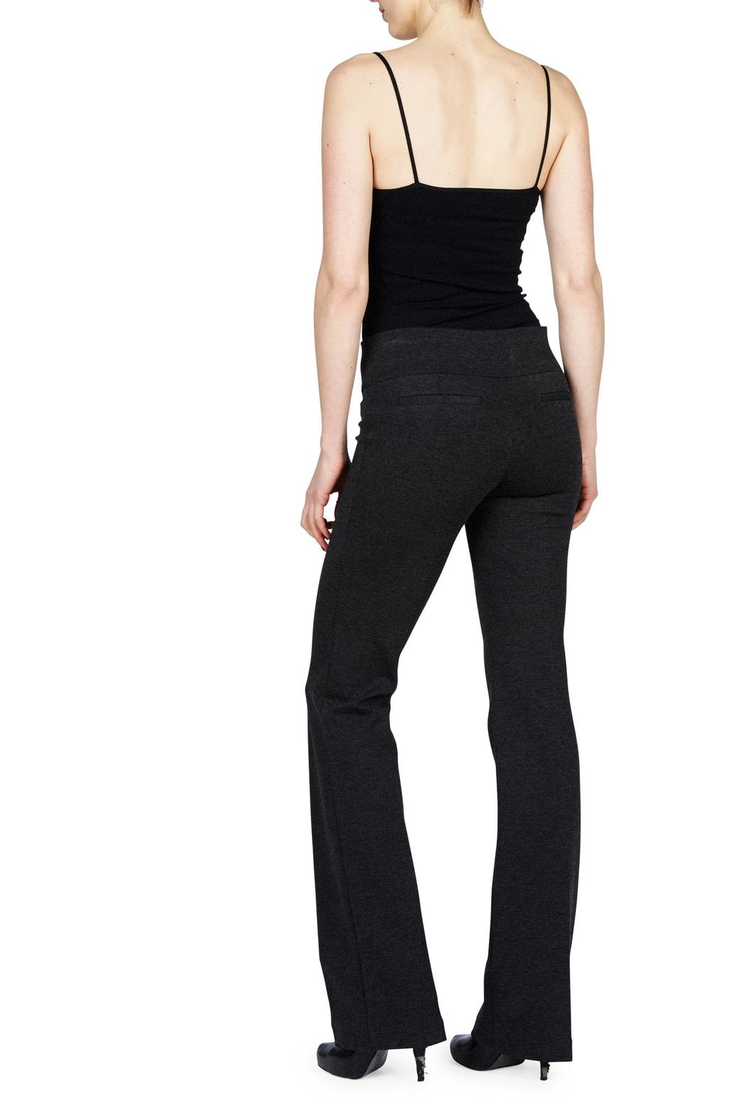 Ecru Ponte Pull On Pant - Front Full Image