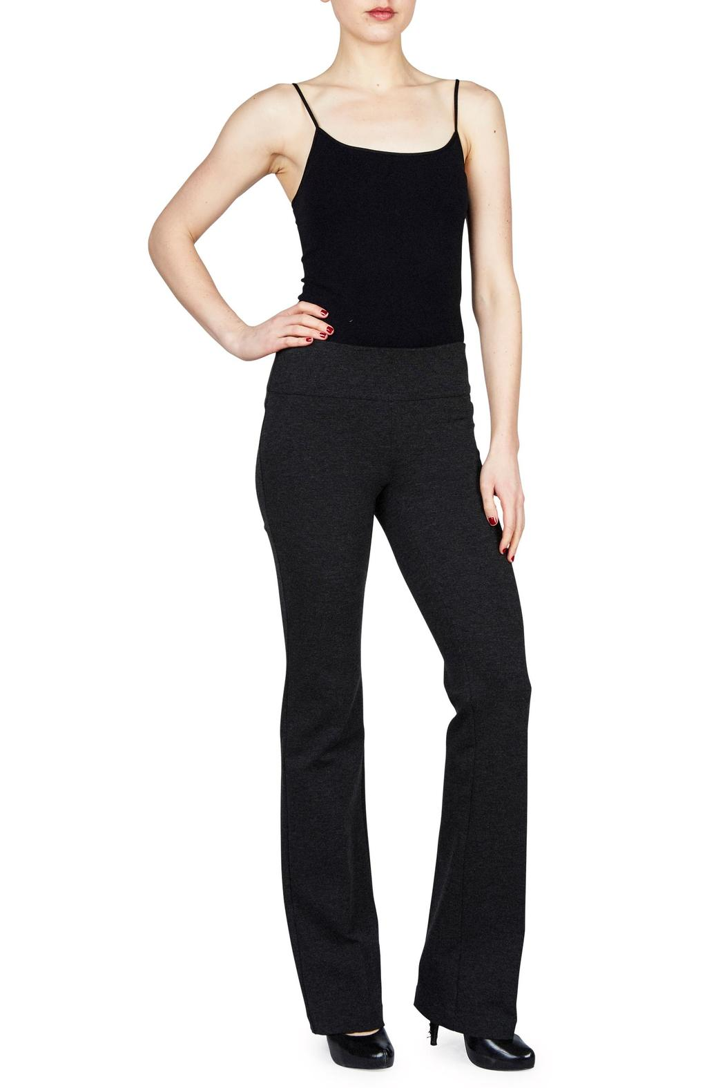 Ecru Ponte Pull On Pant - Front Cropped Image