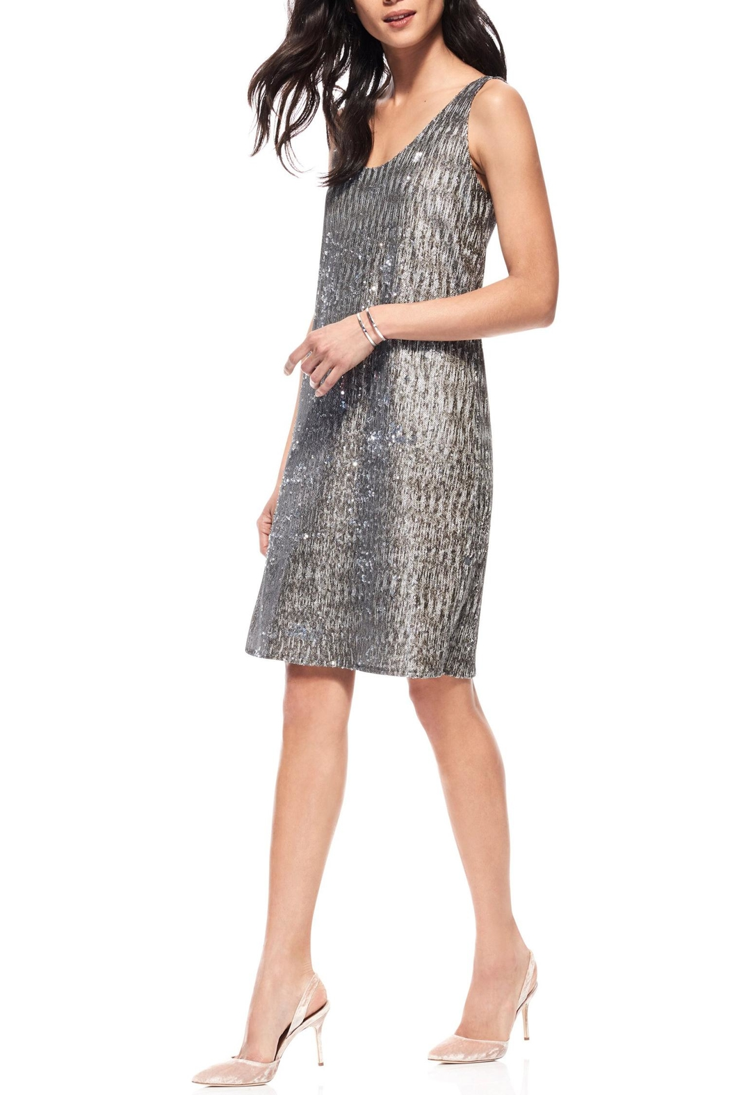 Ecru Sequin Dress - Main Image