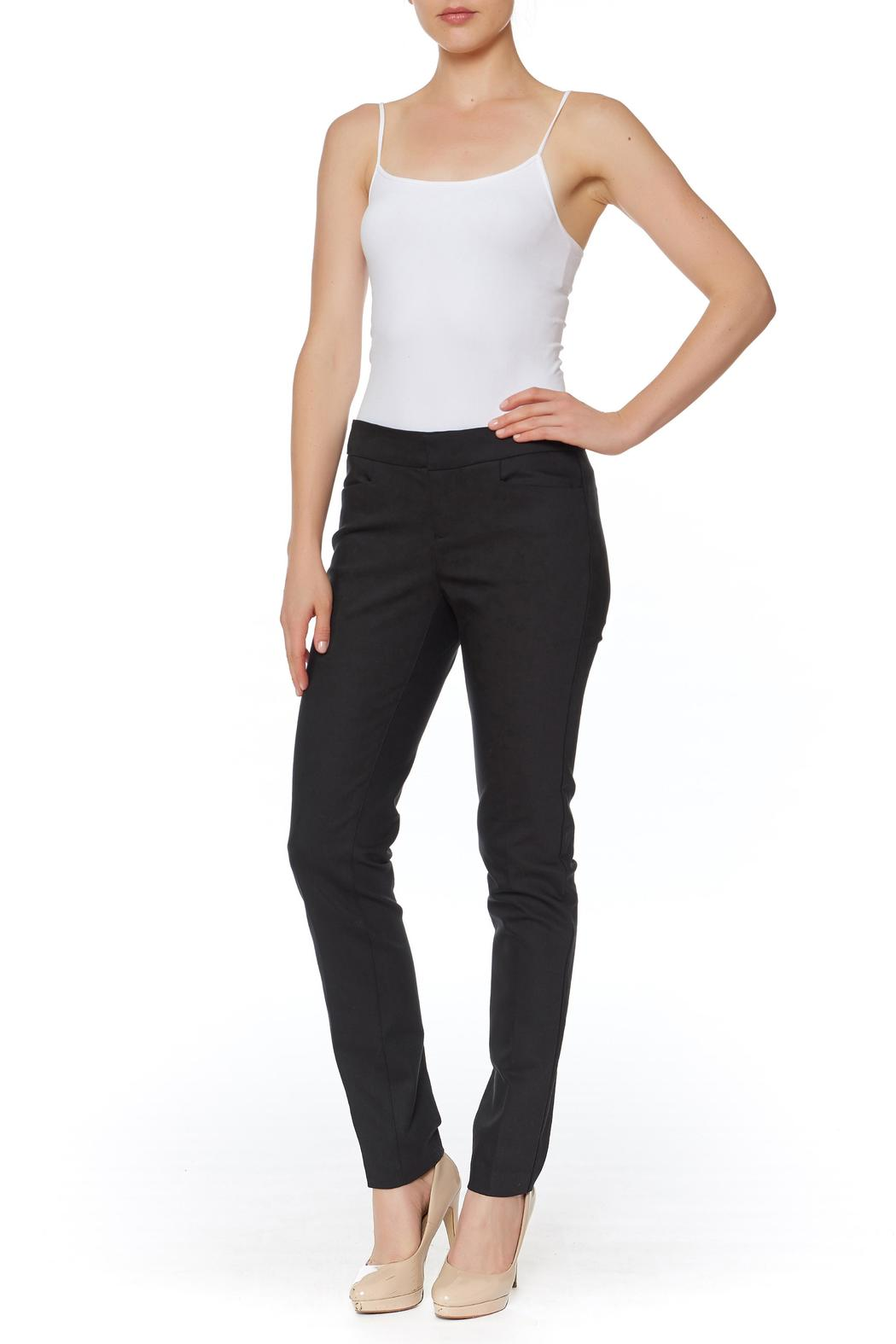 Ecru Skinny Beck Trouser - Front Cropped Image