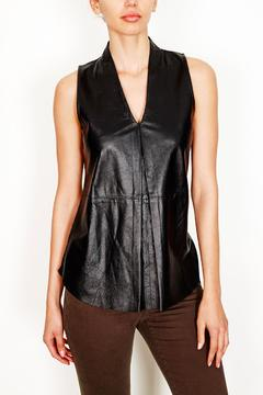 Shoptiques Product: Sleeveless Leather-Front Top