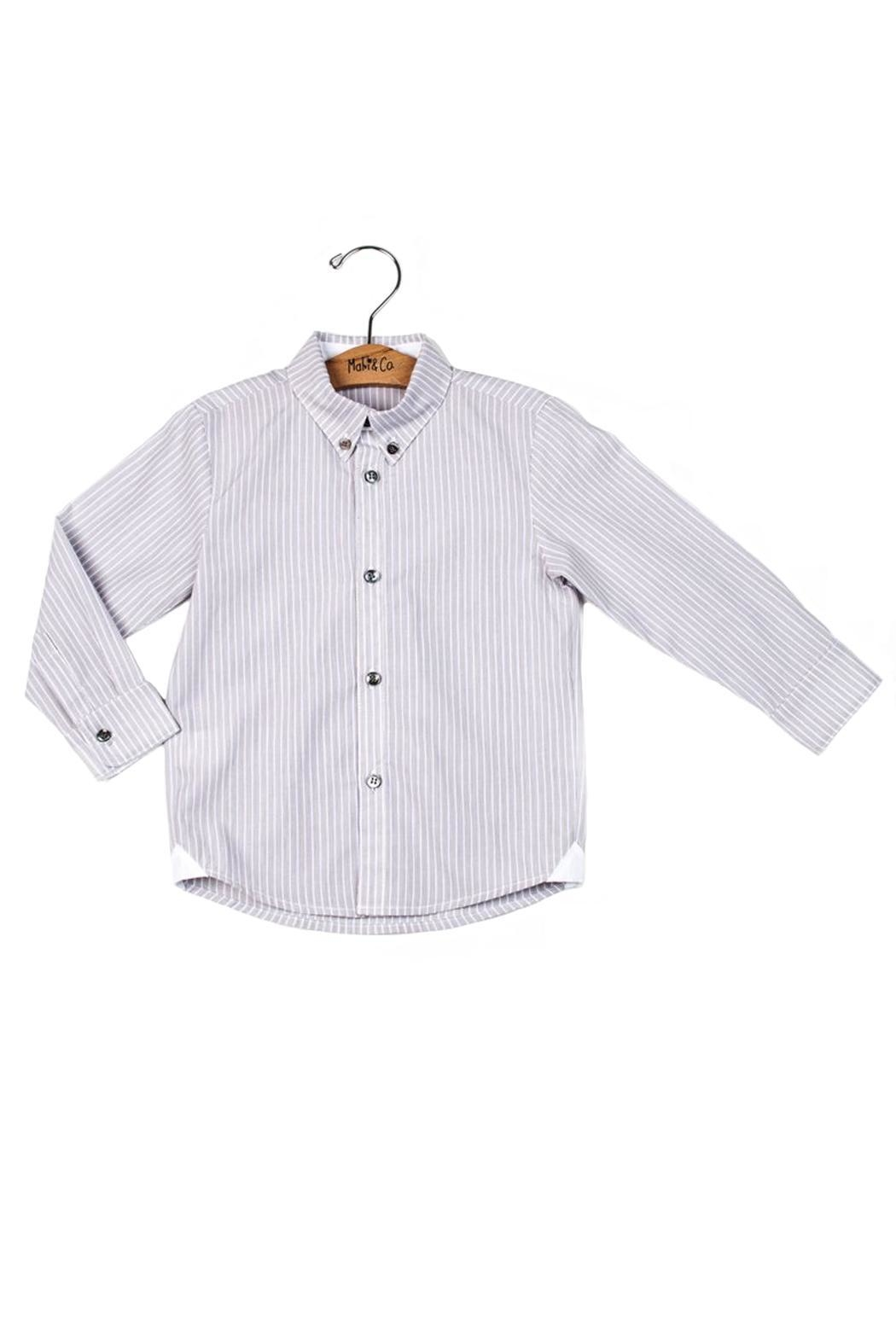 Malvi & Co. Ecru Striped Shirt. - Main Image