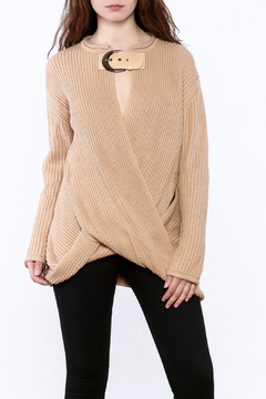 Ecru Taupe Chunky Sweater - Product List Image