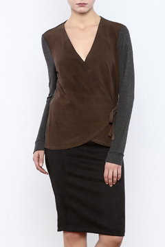 Shoptiques Product: Lamb Suede Wrap Top