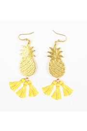 POUPÉE ROUSSE Pineapple Earrings - Front cropped