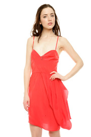 Shoptiques Product: Drape Front Silk Dress