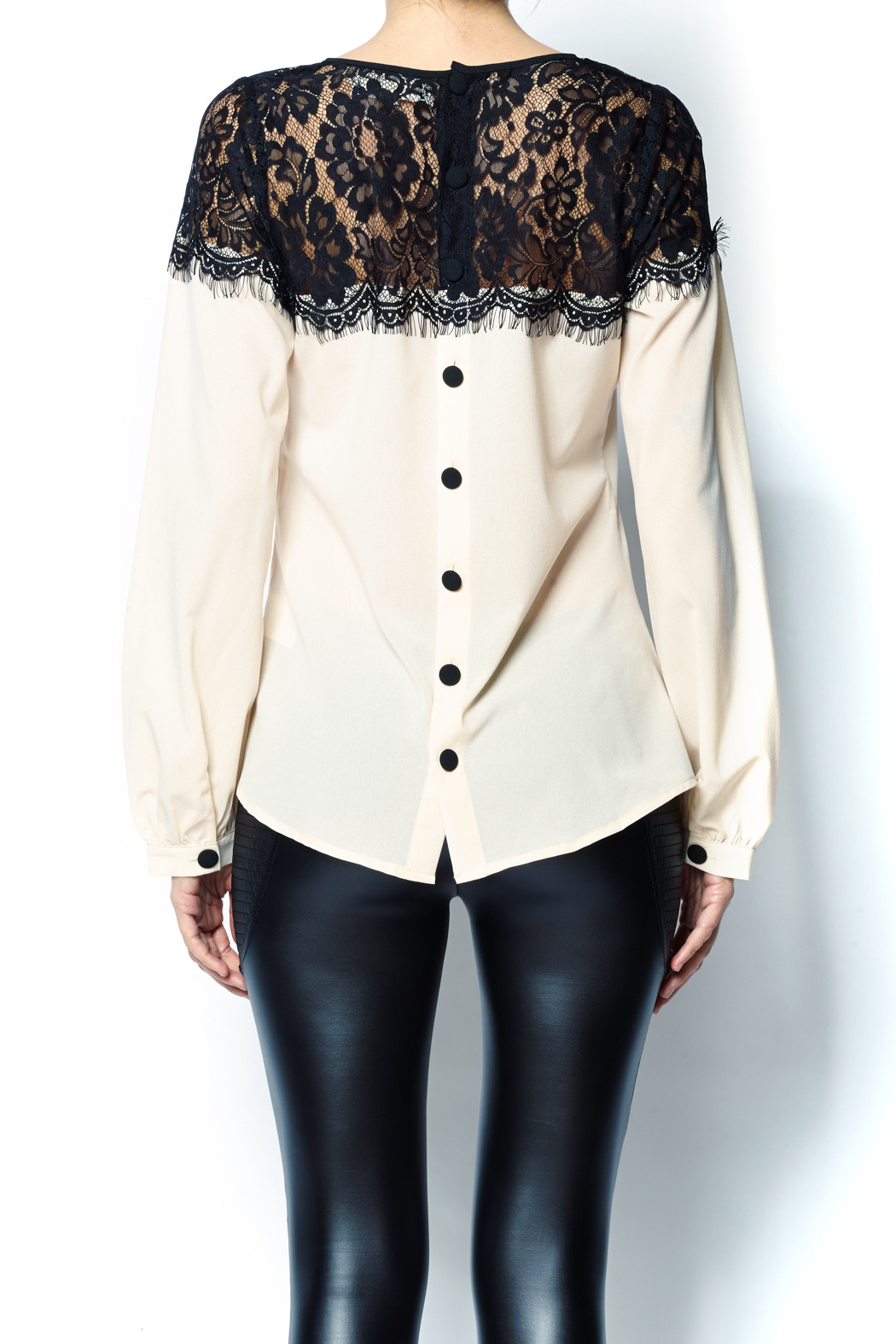 A'reve Lace Top - Back Cropped Image