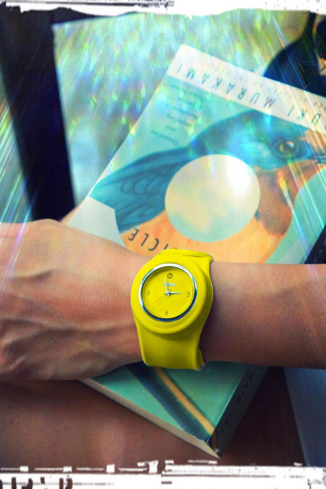 Winky Designs Yellow Slap Watch - Side Cropped Image