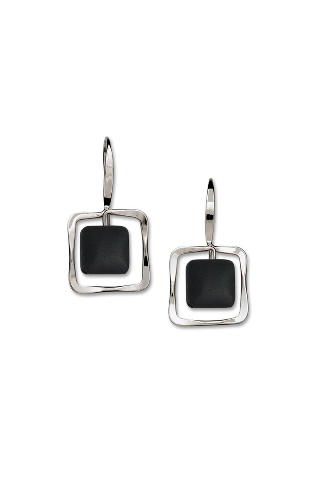 square earrings petite onyx store