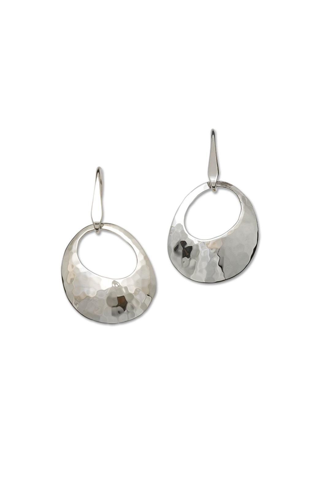 Ed Levin Jewelry Hammered Olive Earrings - Main Image