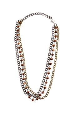 Eda & Betty Golden Teak Necklace - Product List Image