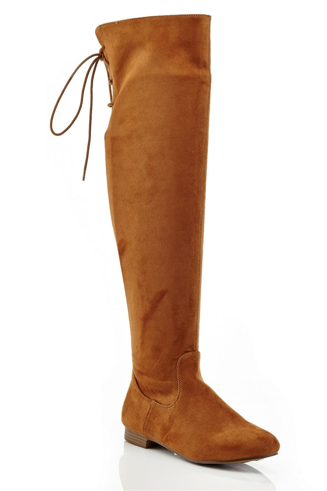 Eddie Marc & Co Lania Over-The-Knee Boots - Front Cropped Image