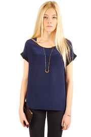 Shoptiques Product: Sheer Short-Sleeve Top