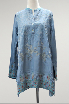 Caite Edee Cupra Embroidered Tunic - Product List Image