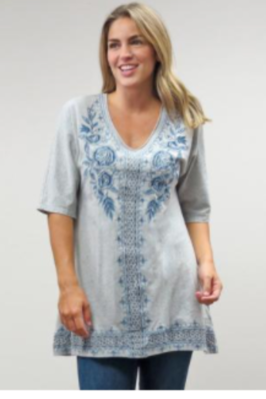 Caite Kira Embroidery Tunic - Side Cropped Image