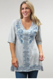 Caite Kira Embroidery Tunic - Side cropped