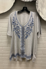 Caite Kira Embroidery Tunic - Front cropped