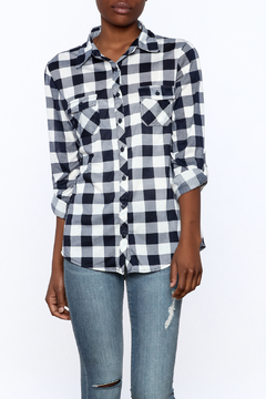 Eden and Olivia Checkered Button Top - Product List Image