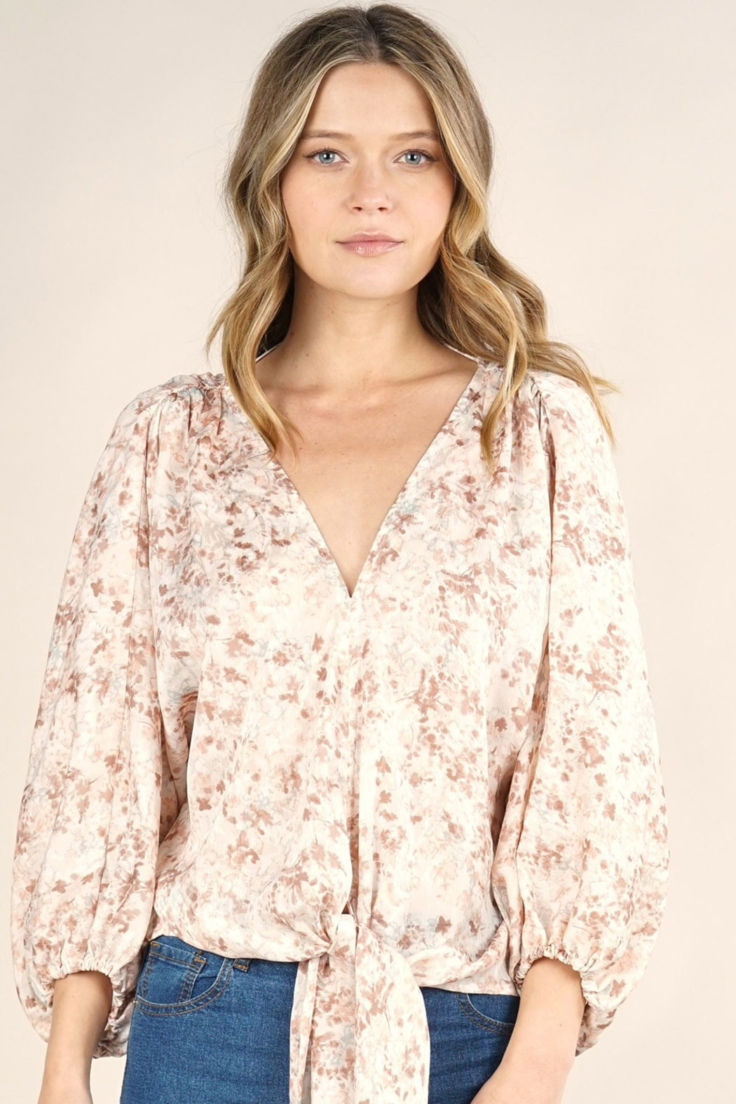 Love Stitch EDEN BLOUSE - Front Cropped Image