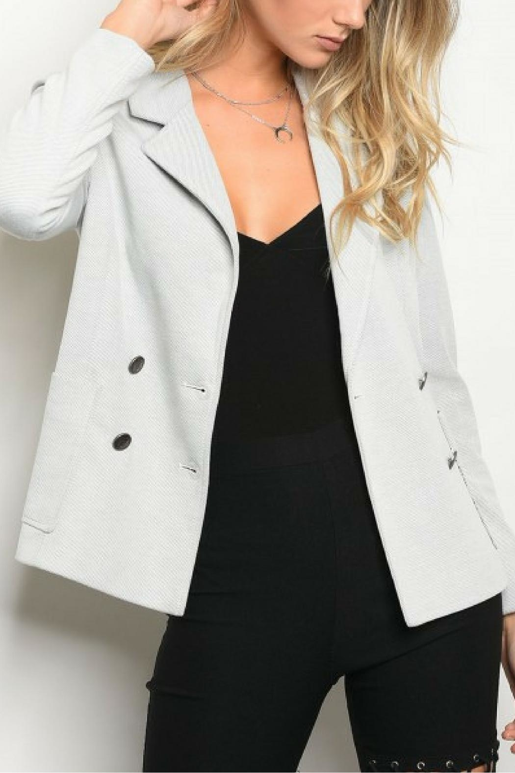 Eden Society Gray Blazer - Front Cropped Image