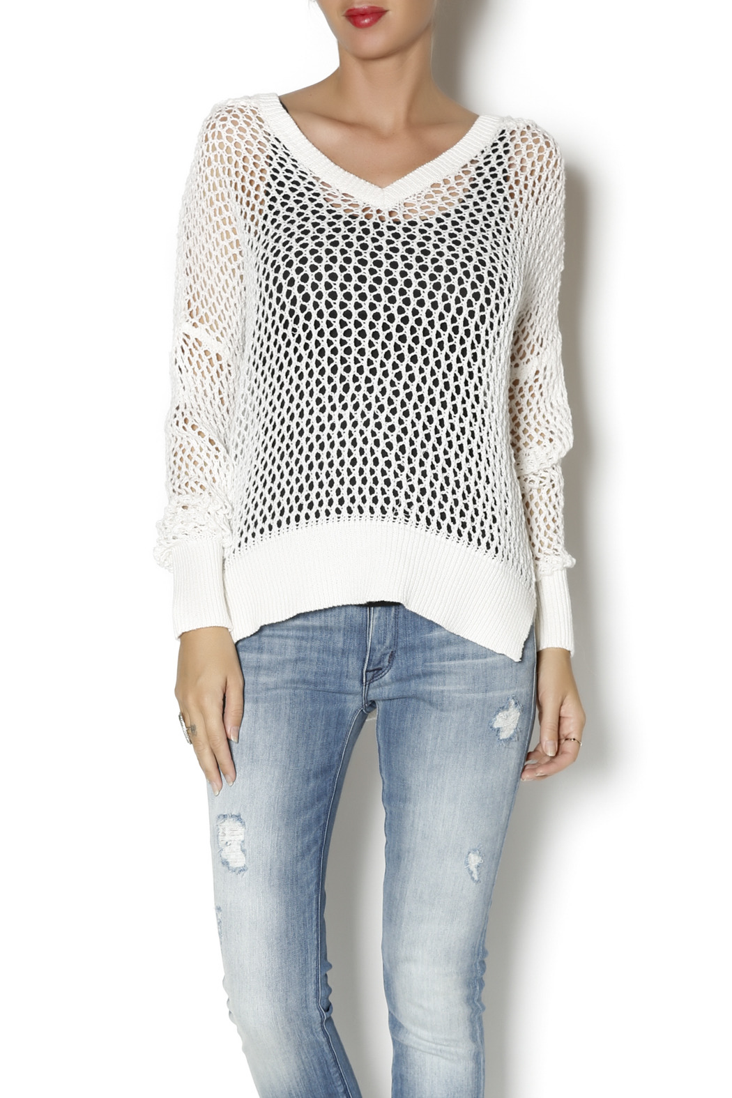 Elan Hooded Open Weave Sweater from Syracuse by Steph Boutique ...