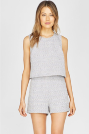 Greylin Edie Textured Tweed Romper - Product Mini Image