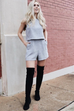Greylin Edie Textured Tweed Romper - Alternate List Image