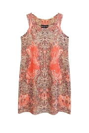 Ellen Parker Coral Paisley Dress - Product Mini Image