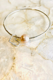 Maui Ocean Jewelry Edison Love Bangle - Sterling Silver - Product Mini Image
