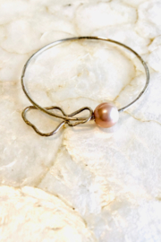 Maui Ocean Jewelry Edison Pearl w Maui Island Bangle - Sterling Silver - Product Mini Image