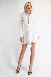 EDIT BY NINE Mini Shirt Dress - Front cropped