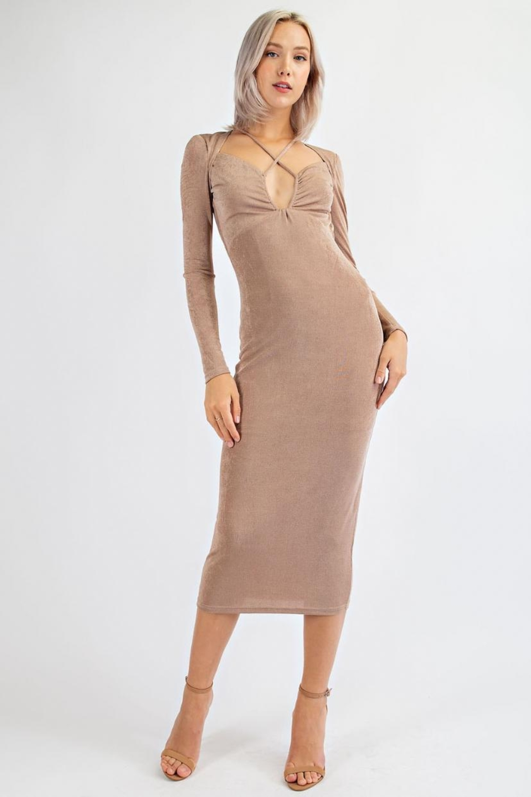 EDIT BY NINE Ruched Bust Dress - Main Image
