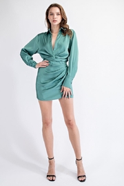 EDIT BY NINE Satin Mini Dress - Front cropped